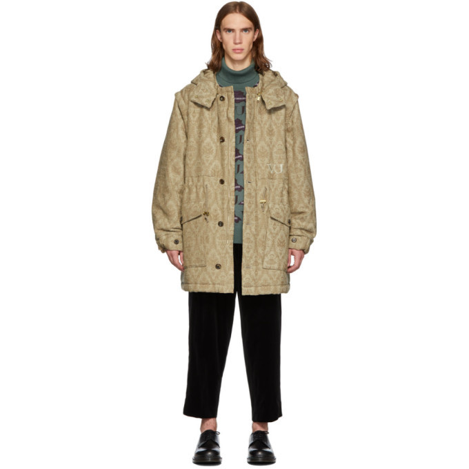 Photo: Undercover Beige Valentino Edition Base Printed Parka