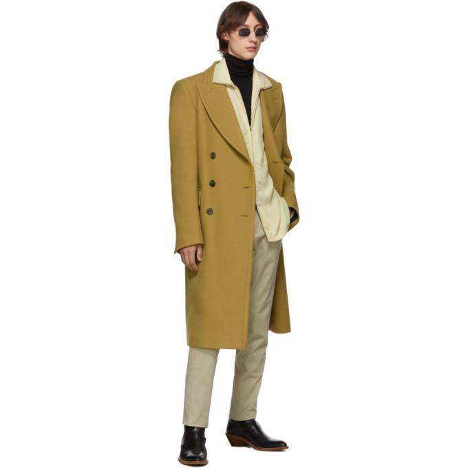 Lemaire Beige High Neck Zipped Jacket