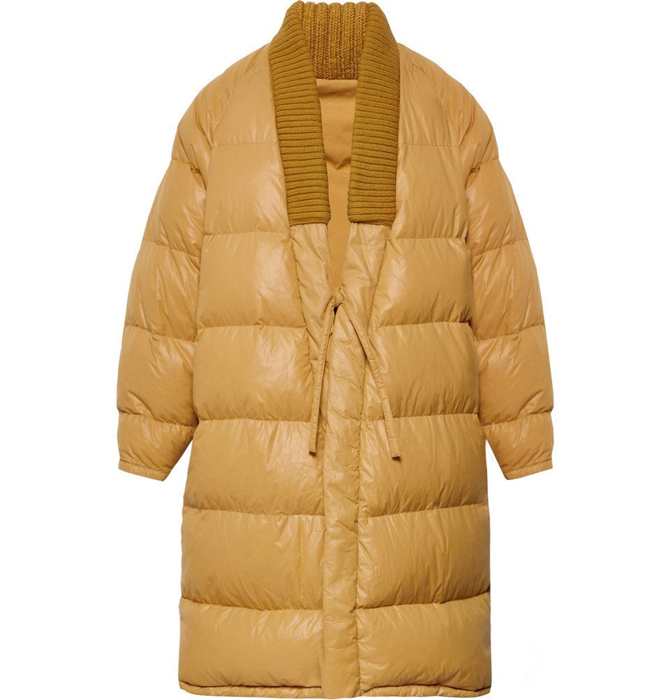 Photo: visvim - Yukata Oversized Wool-Trimmed Quilted Nylon Down Coat - Men - Mustard