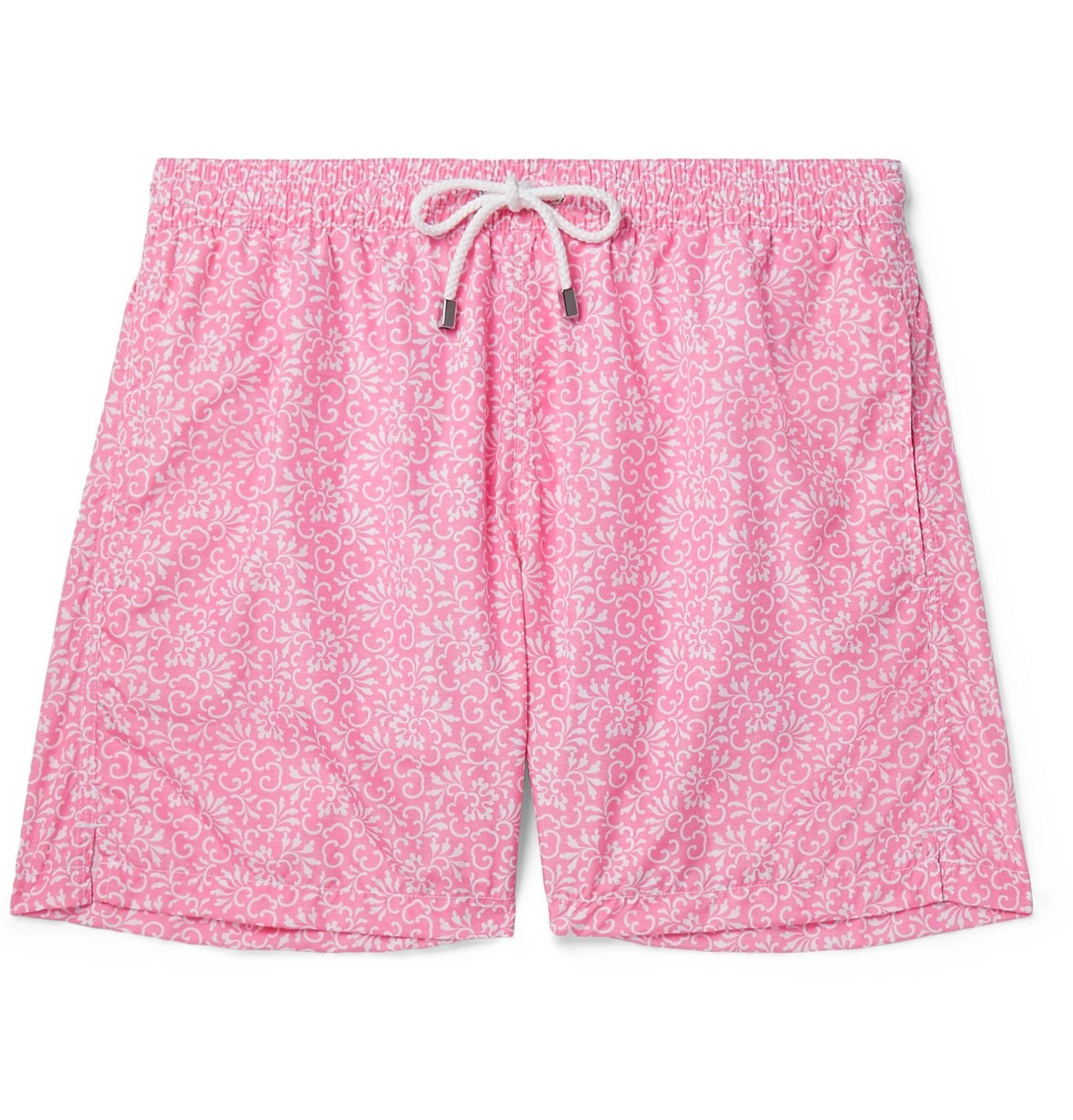 Photo: Anderson & Sheppard - Floral-Print Shell Swim Shorts - Pink
