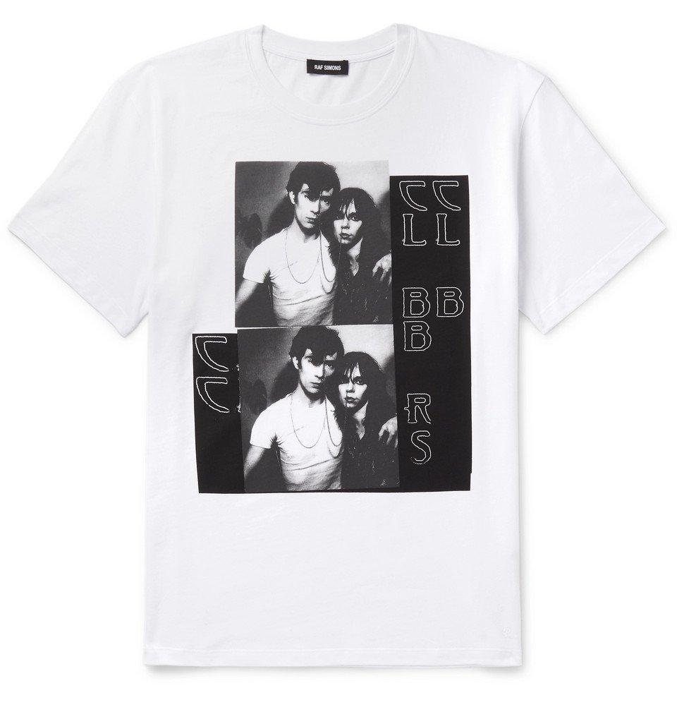 Raf Simons - Slim-Fit Printed Cotton-Jersey T-Shirt - Men - White