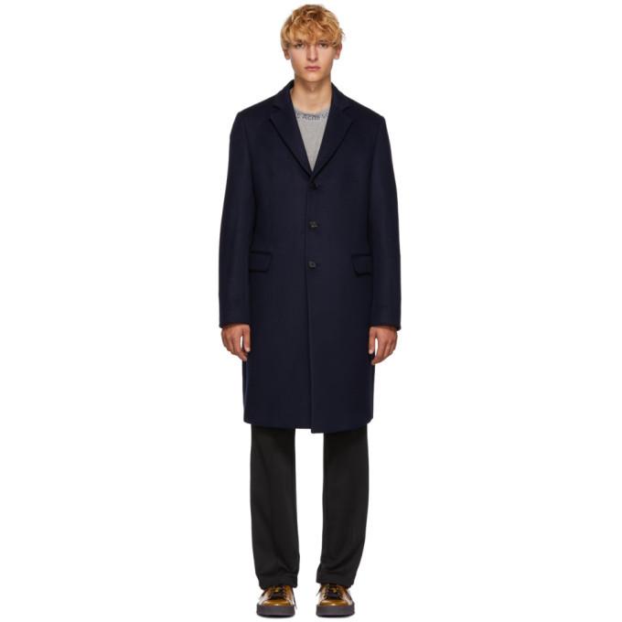 Acne Studios Navy Wool Gavin Coat