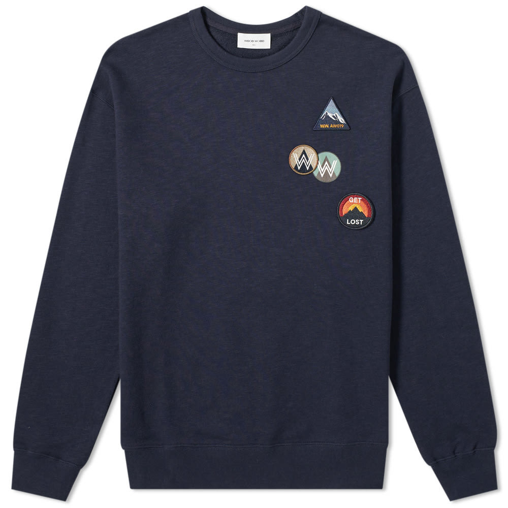 Wood Wood Hugo Patchwork Crew Sweat