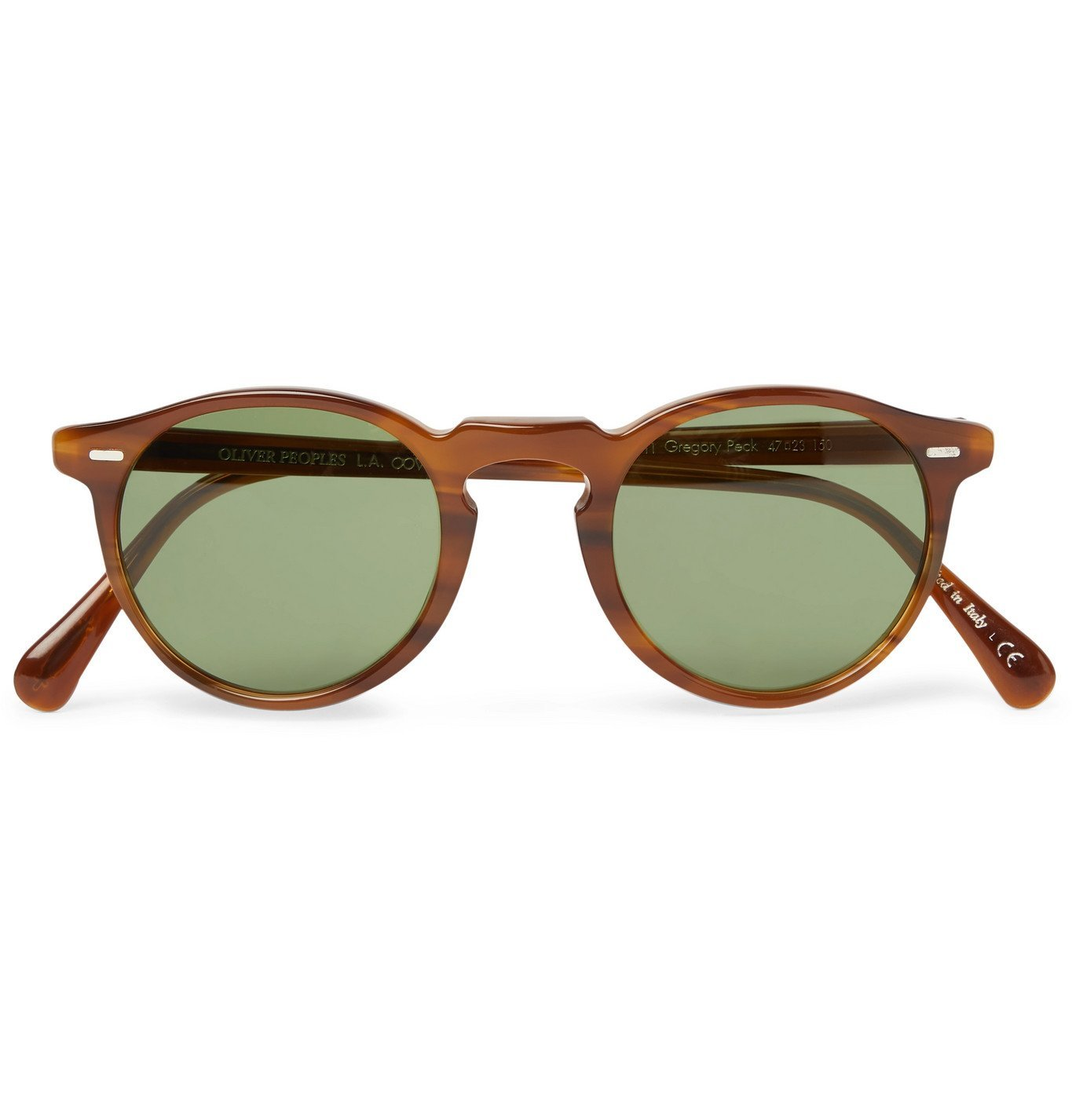 Photo: Oliver Peoples - Gregory Peck Round-Frame Tortoiseshell Acetate Sunglasses - Brown