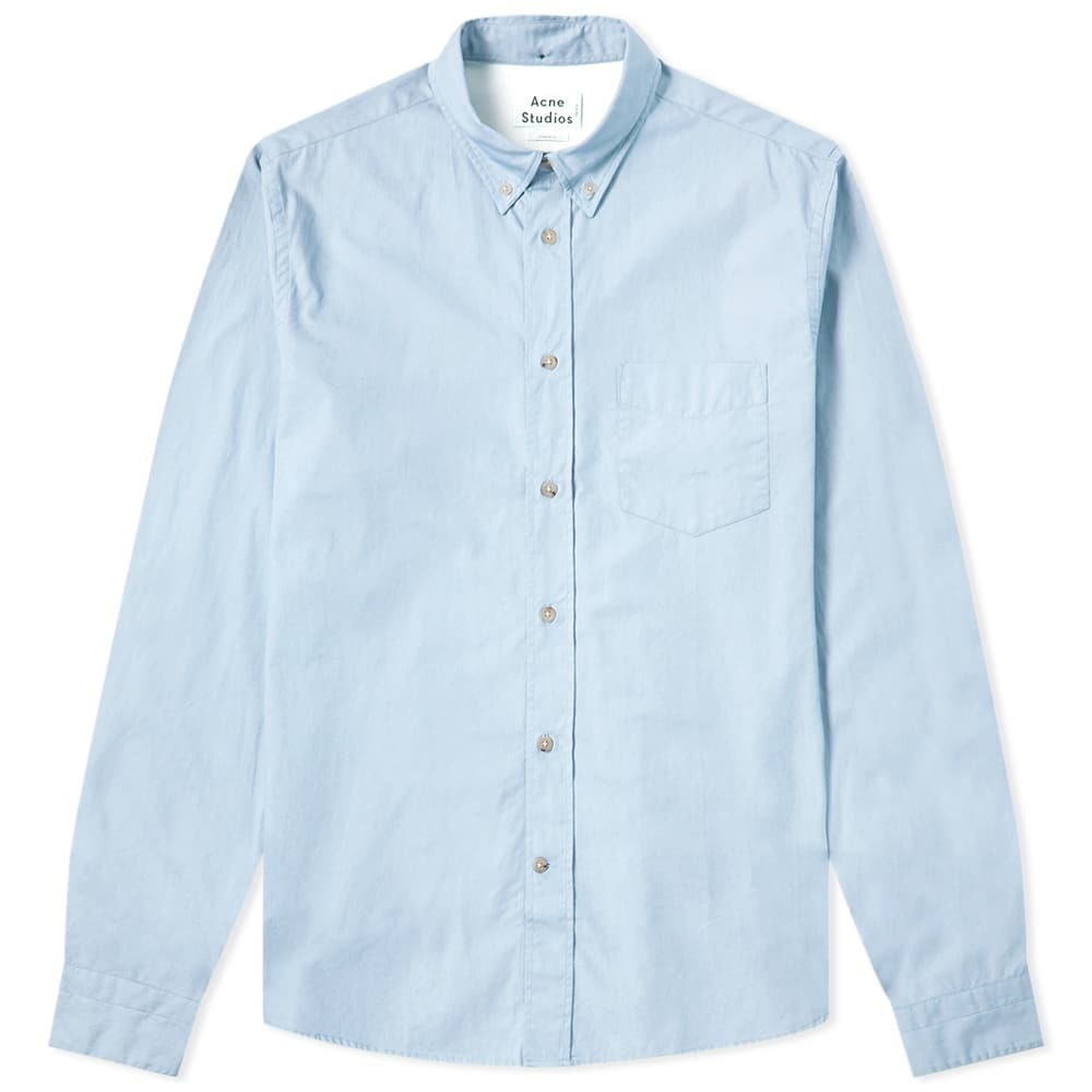 Acne Studios Isherwood Soft Poplin Shirt Pale Blue