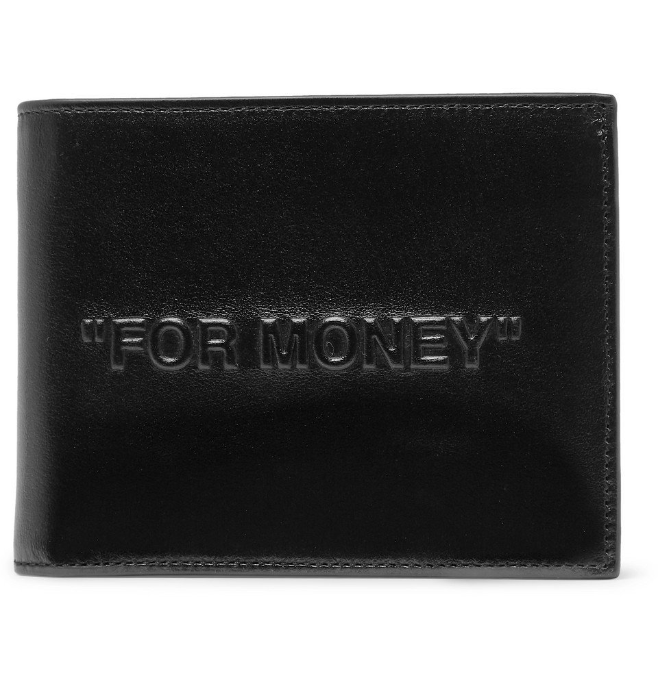 Photo: Off-White - Embossed Leather Billfold Wallet - Black