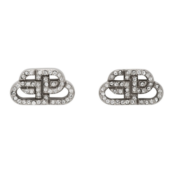 Photo: Balenciaga Silver XS BB Stud Earrings
