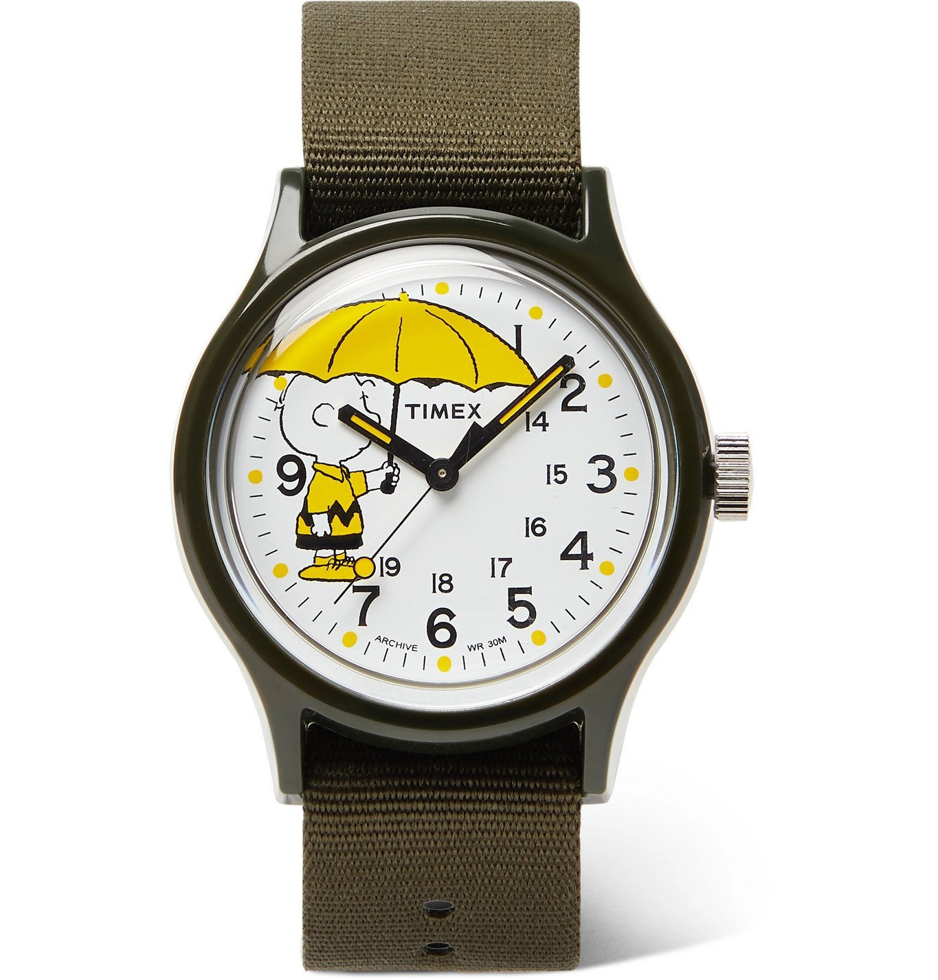 Photo: Timex - Peanuts MK1 36mm Resin and NATO Watch - Green