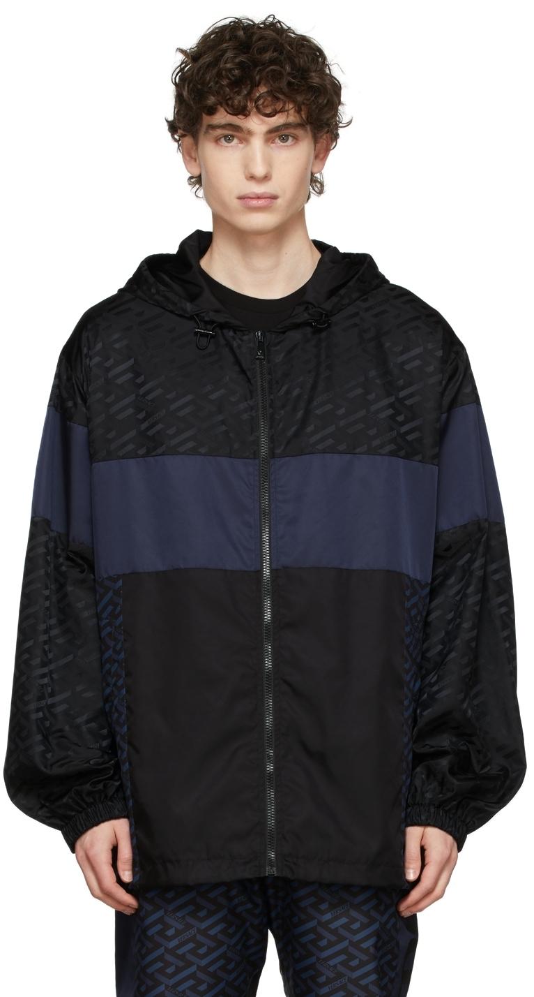 Photo: Versace Black & Blue Track Suit Jacket