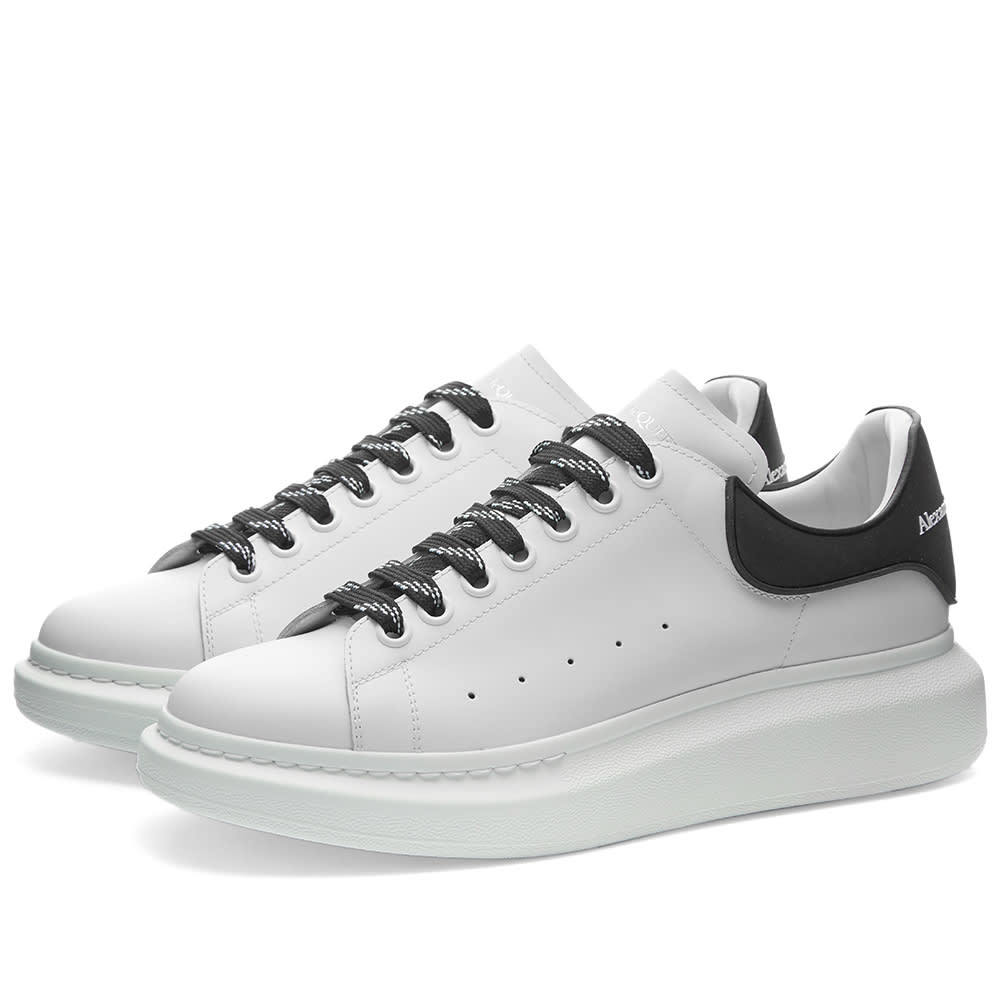 Photo: Alexander McQueen Rubber Patch Heel Tab Wedge Sole Sneaker