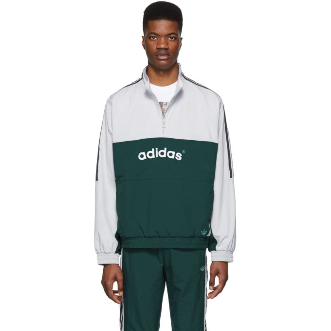 adidas Originals Grey and Green Archive Track Jacket