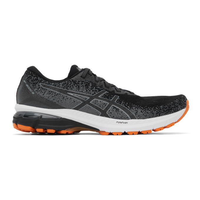 Photo: Asics Black and Grey GT-2000 9 Knit Sneakers