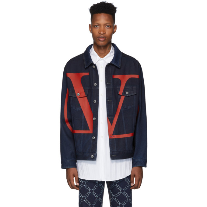 Photo: Valentino Blue Denim VLogo Jacket
