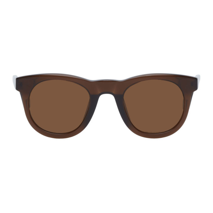 Photo: Dries Van Noten Brown Linda Farrow Edition Oval Sunglasses