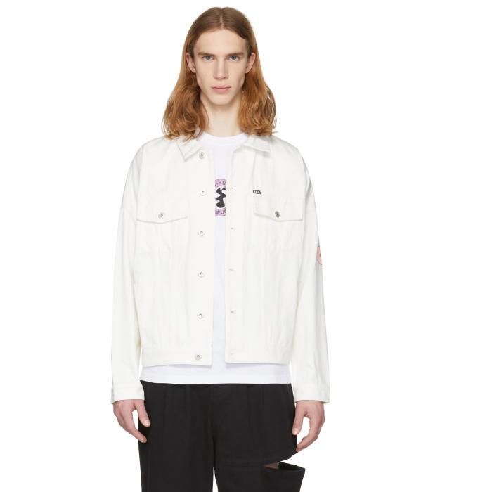 Photo: Perks and Mini White Perspective Denim Jacket
