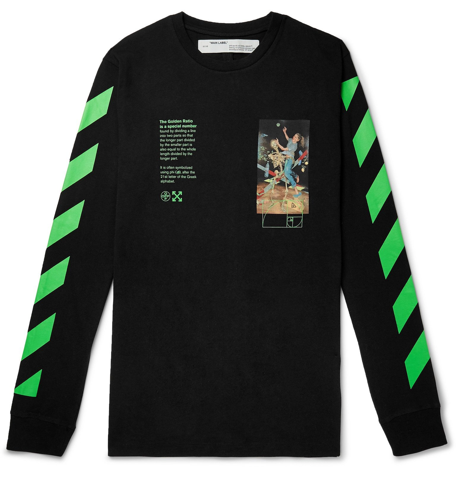 Photo: Off-White - Printed Cotton-Jersey T-Shirt - Black