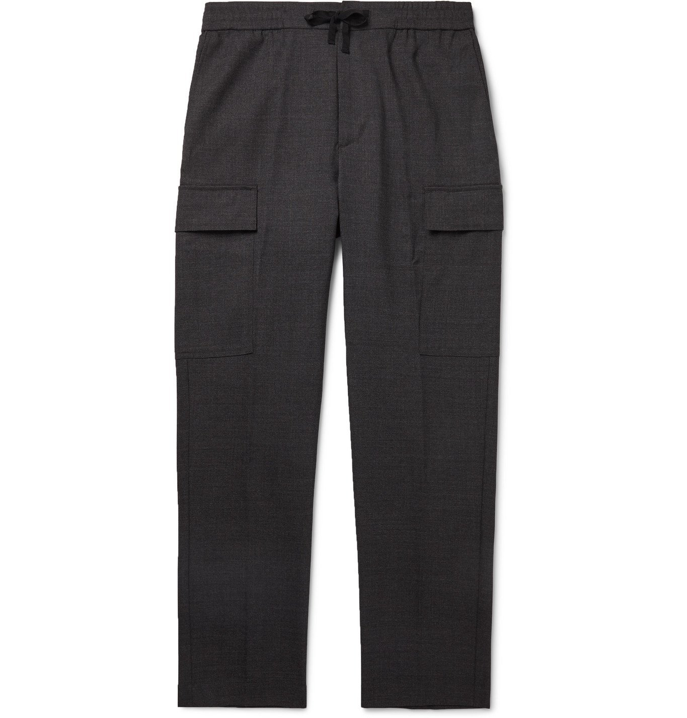 Photo: Officine Generale - Geron Tapered Wool Cargo Trousers - Gray