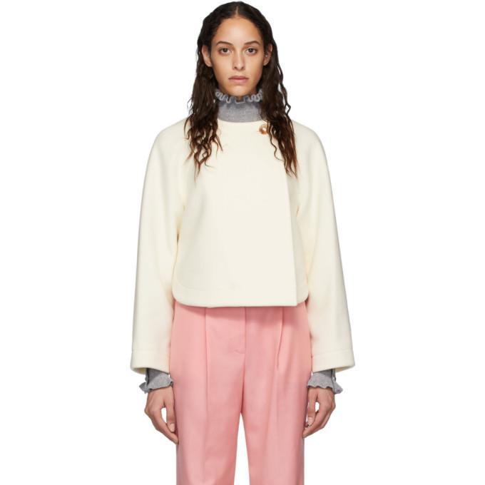 Photo: Chloe Off-White Wool Cropped Jacket