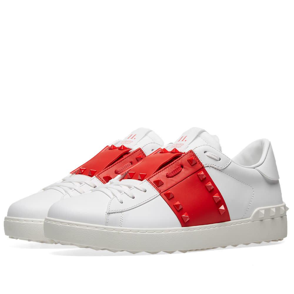 Low Untitled Rockstud Sneaker White
