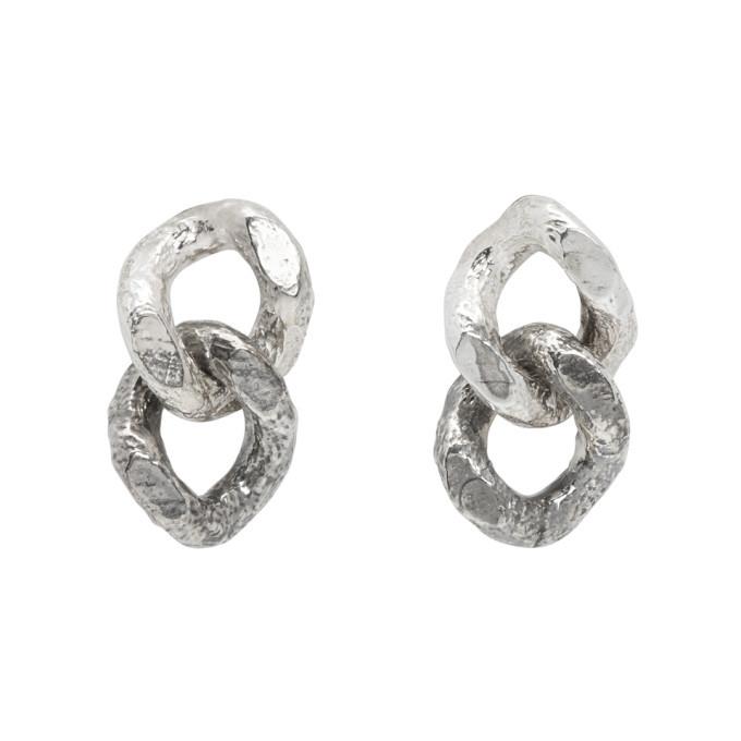 Photo: Pearls Before Swine Silver Double Sliced Link Earrings