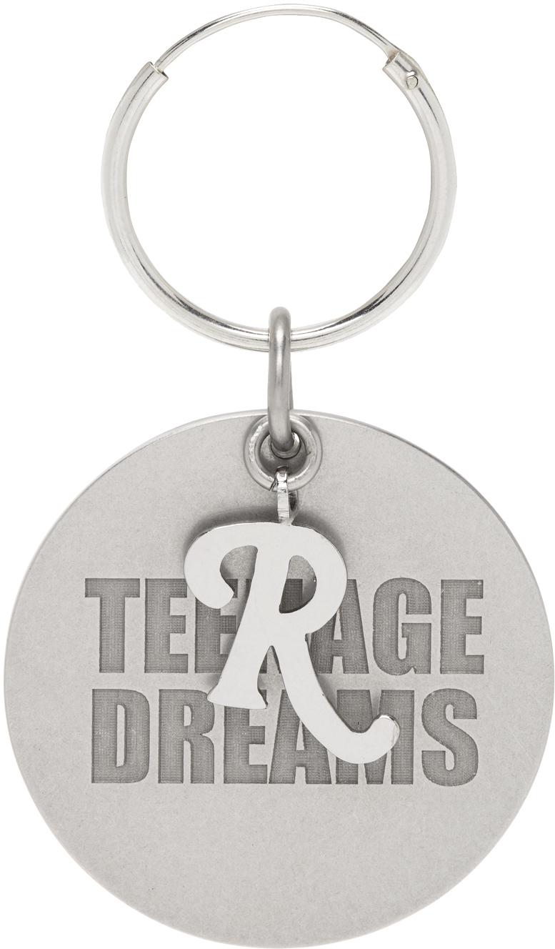 Raf Simons Silver 'Teenage Dreams' Medallion Single Earring