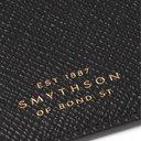 Smythson - Panama Cross-Grain Leather Cardholder - Black