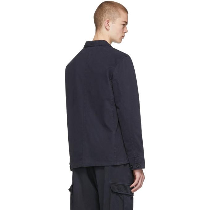 Officine Generale Navy Dyed Chore Jacket