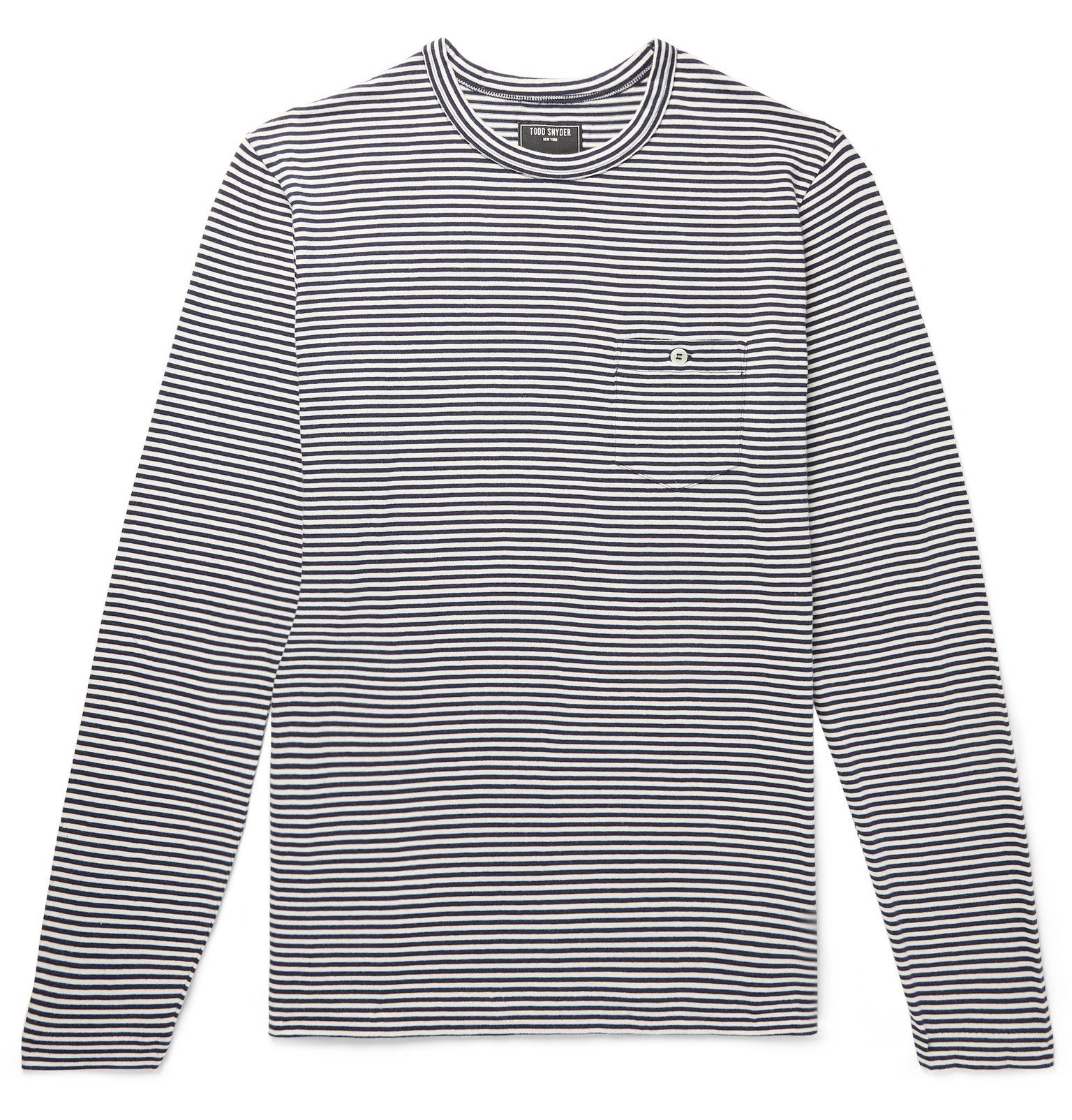 Photo: Todd Snyder - Striped Cotton-Jersey T-Shirt - Blue