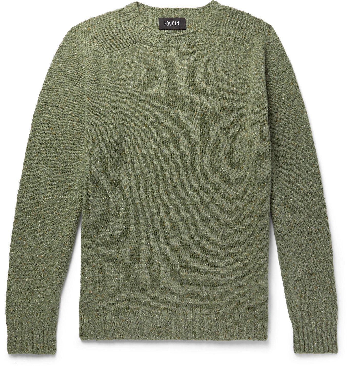 Photo: Howlin' - Terry Mélange Virgin Wool Sweater - Green