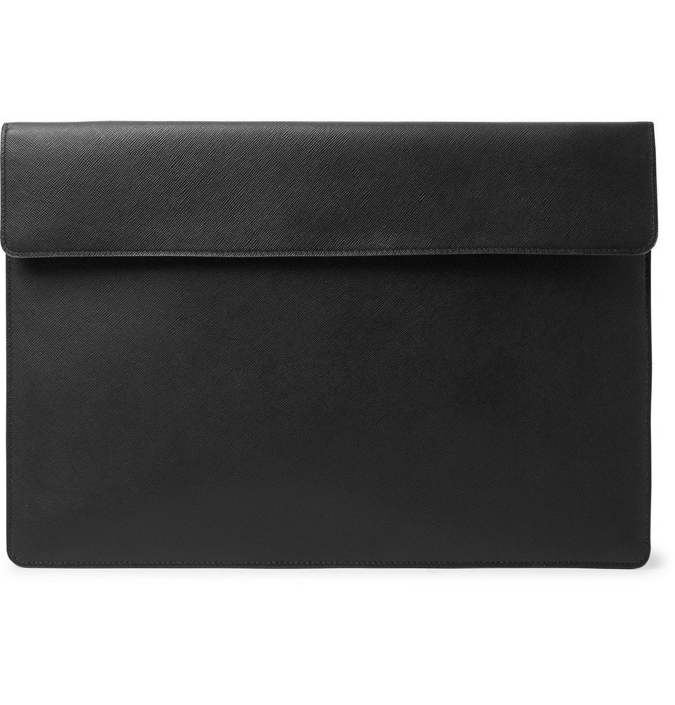 Photo: Common Projects - Cross-Grain Leather Pouch - Black