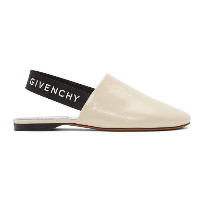 Givenchy Ecru Rivington Slingback Mules