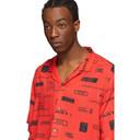 Ksubi Red You Have Been Warned Resort Short Sleeve Shirt