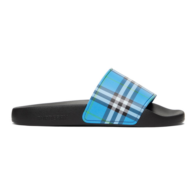 Photo: Burberry Blue Check Slides