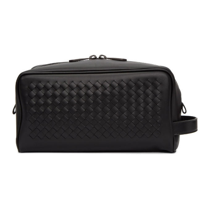 Bottega Veneta Black Intrecciato Beauty Case