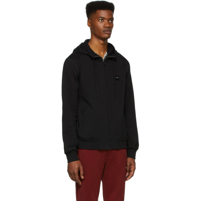 Dolce and Gabbana Black Scuro Zip-Up Hoodie