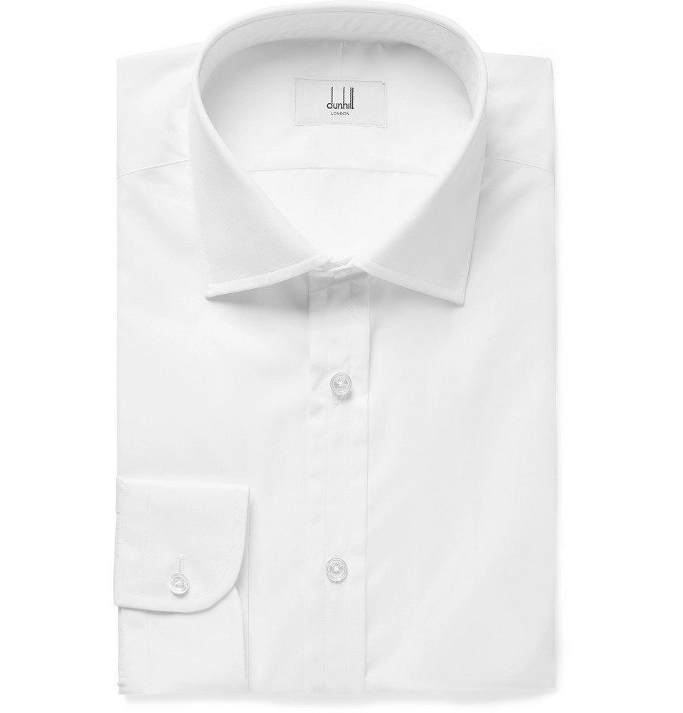 Dunhill - White Cotton-Poplin Shirt - Men - White