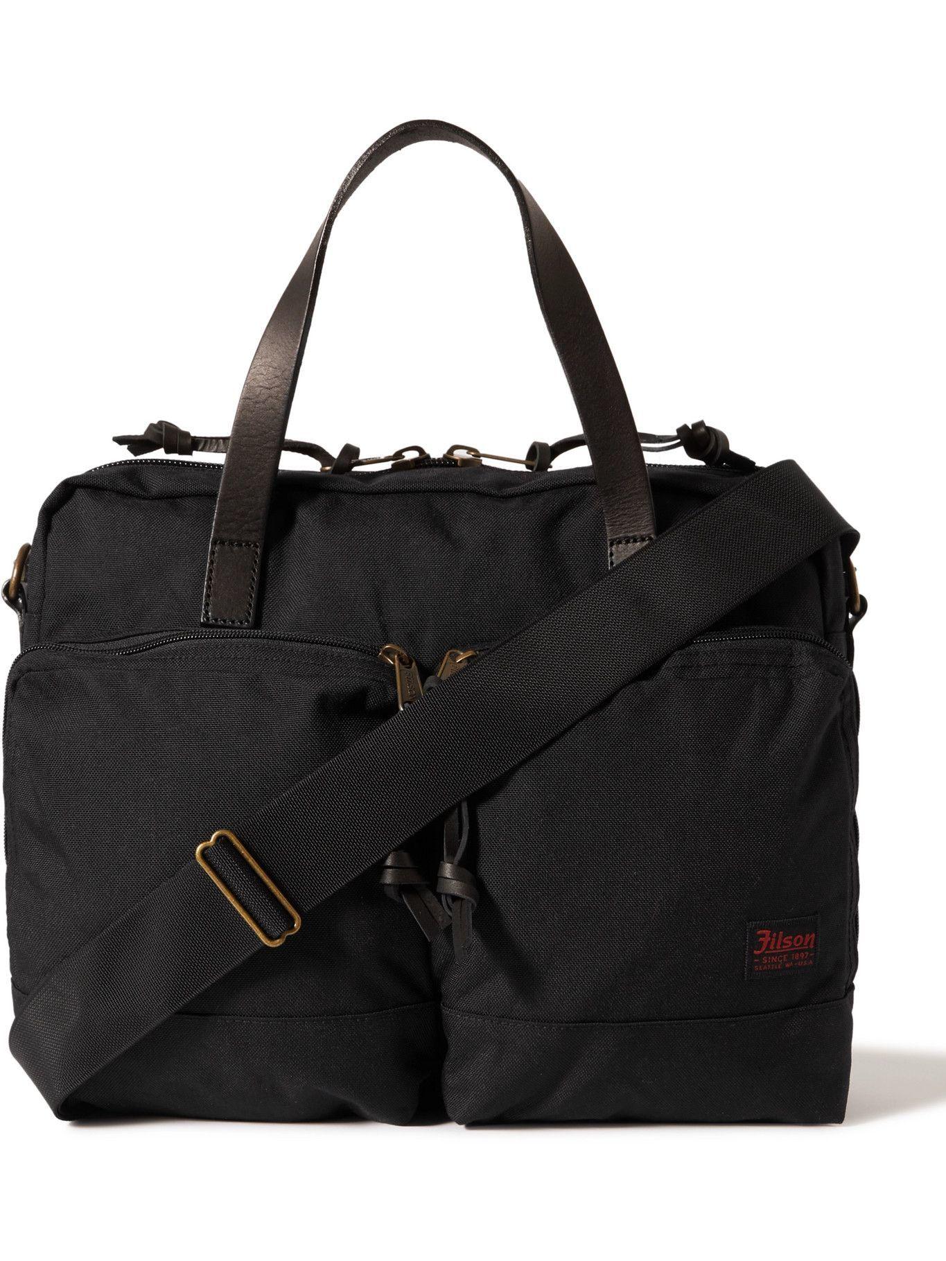 FILSON - Dryden Leather-Trimmed Nylon Briefcase