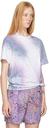 MCQ White & Purple Tie-Dye Relaxed T-Shirt