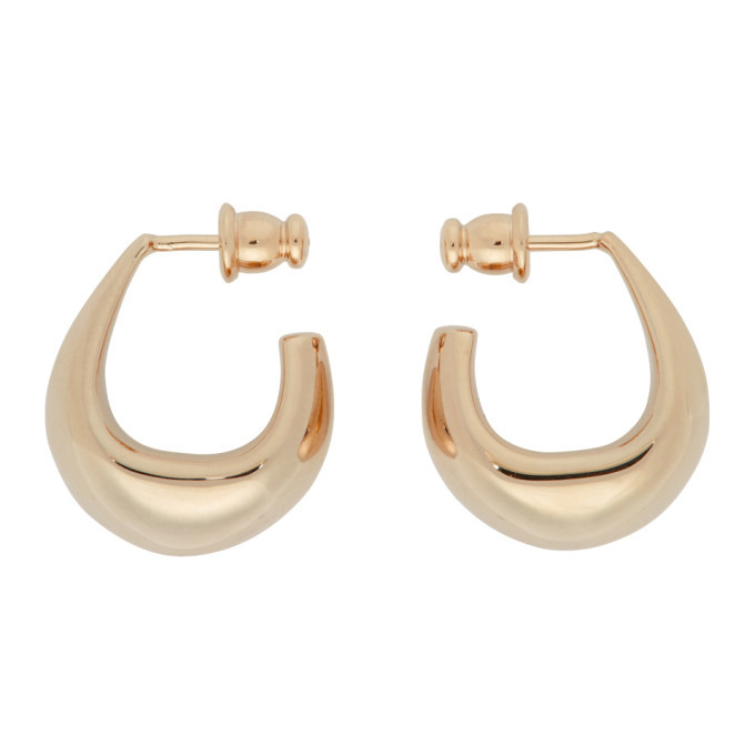 Photo: Lemaire Gold Mini Curved Drop Earrings