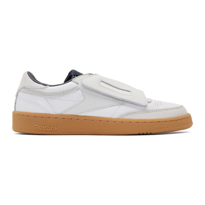 Photo: Nanamica White and Grey Reebok Edition Club C Stomper Sneakers