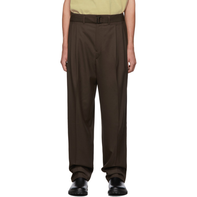 Lemaire Brown Pleated Trousers