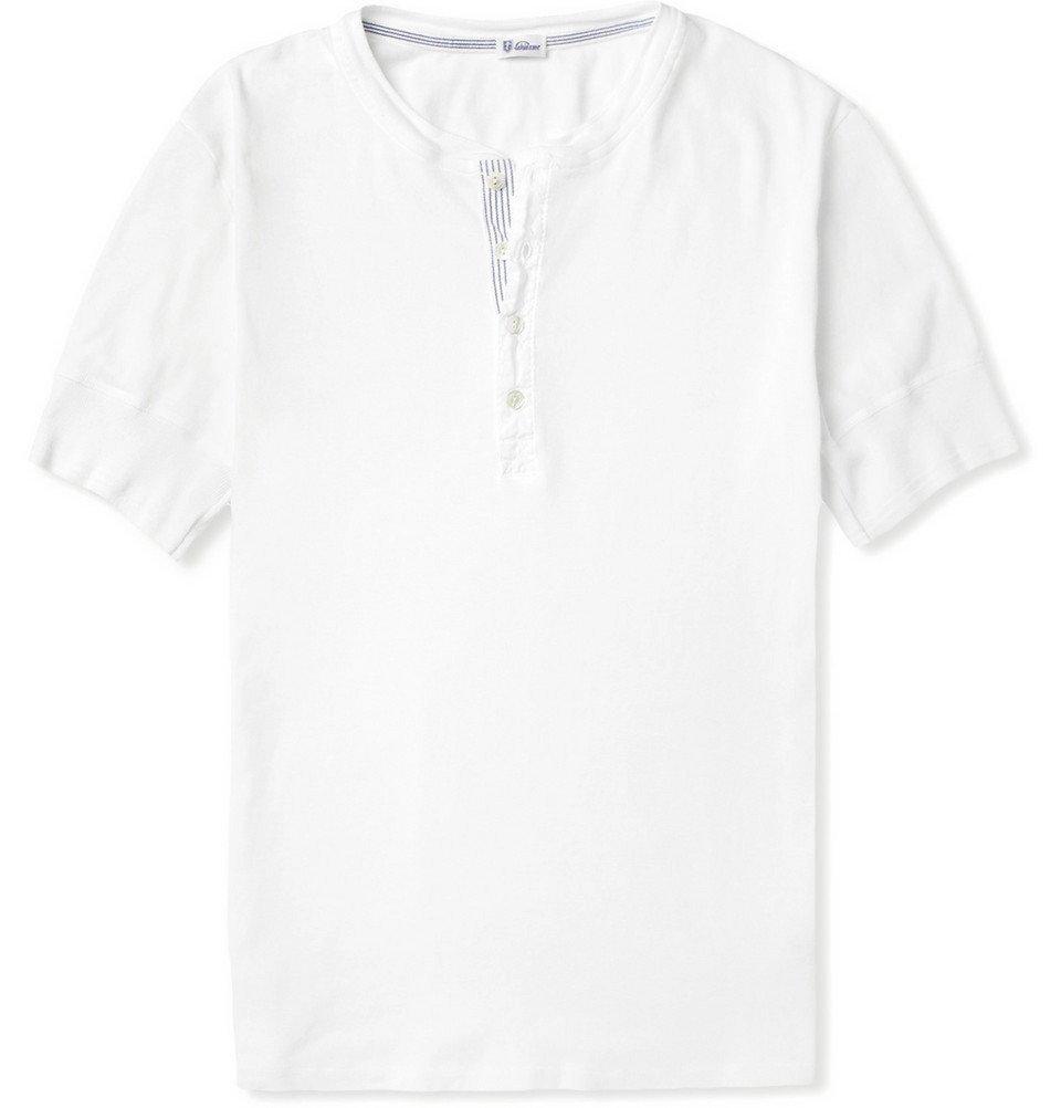 Schiesser - Karl Cotton-Jersey Henley T-Shirt - Men - White