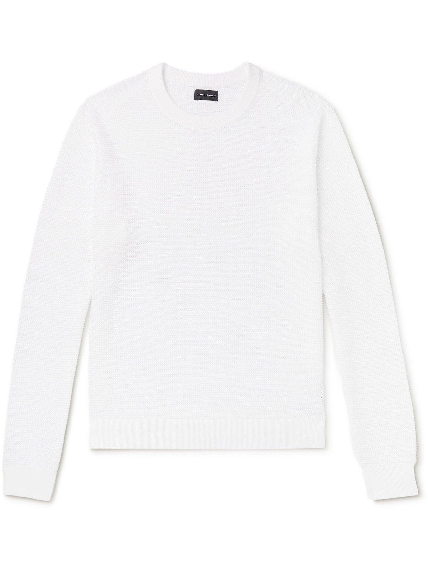 Photo: CLUB MONACO - Open-Knit Cotton Sweater - White - S