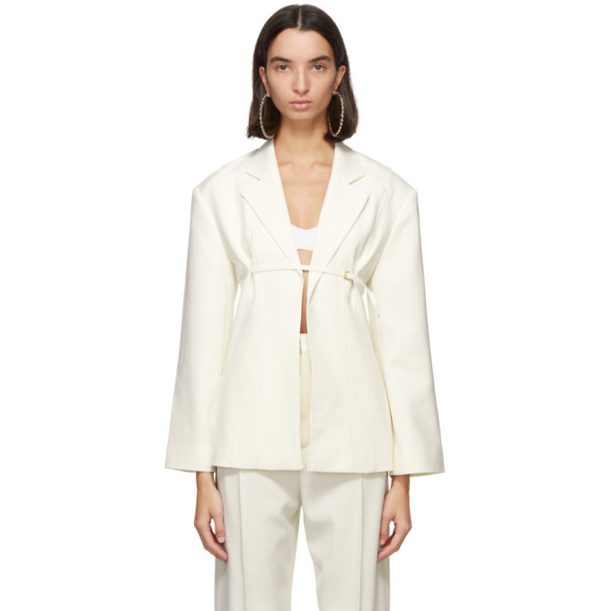 Photo: Jacquemus Off-White La Veste Sauge Blazer