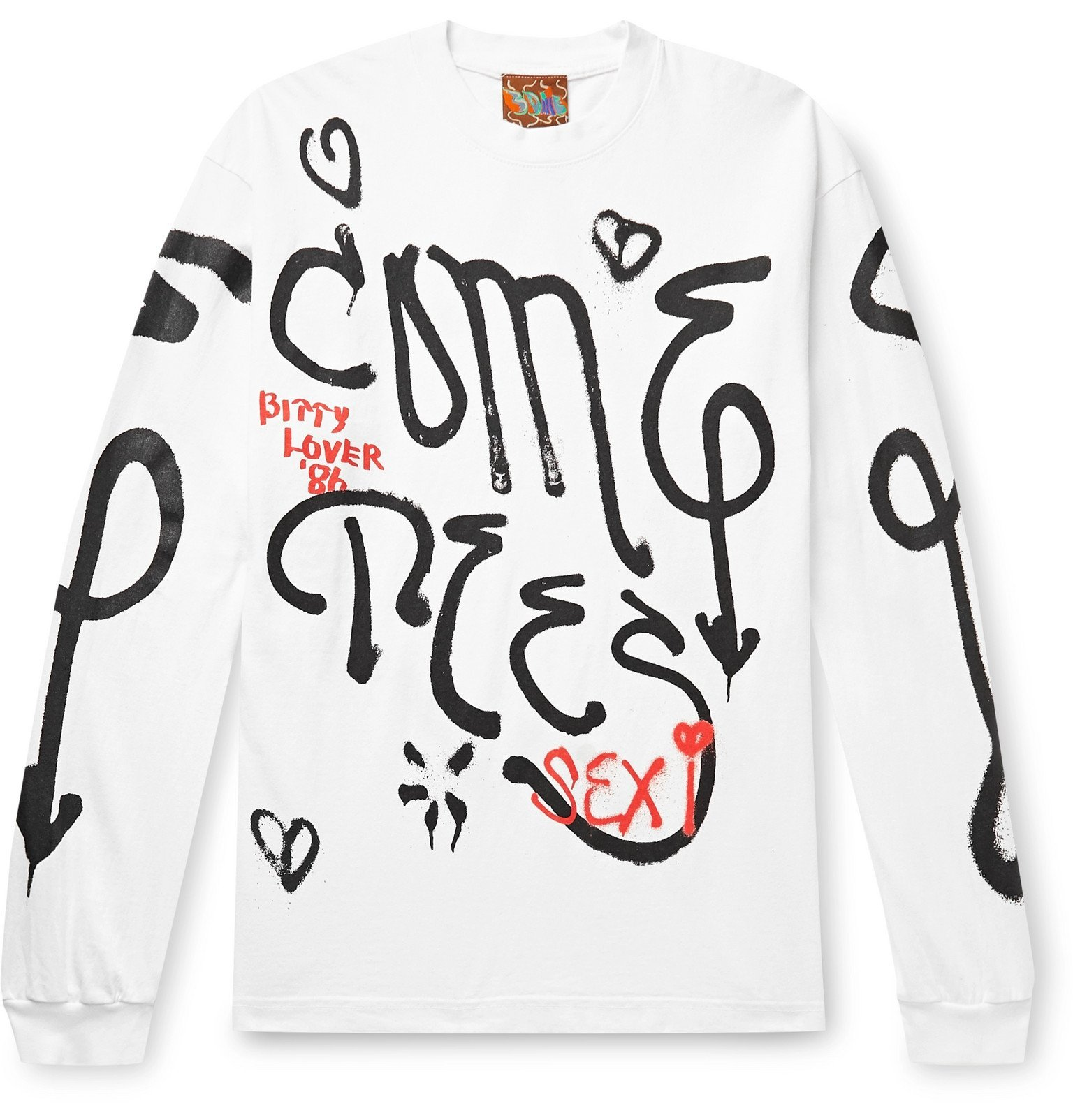 Photo: COME TEES - Printed Cotton-Jersey T-Shirt - White