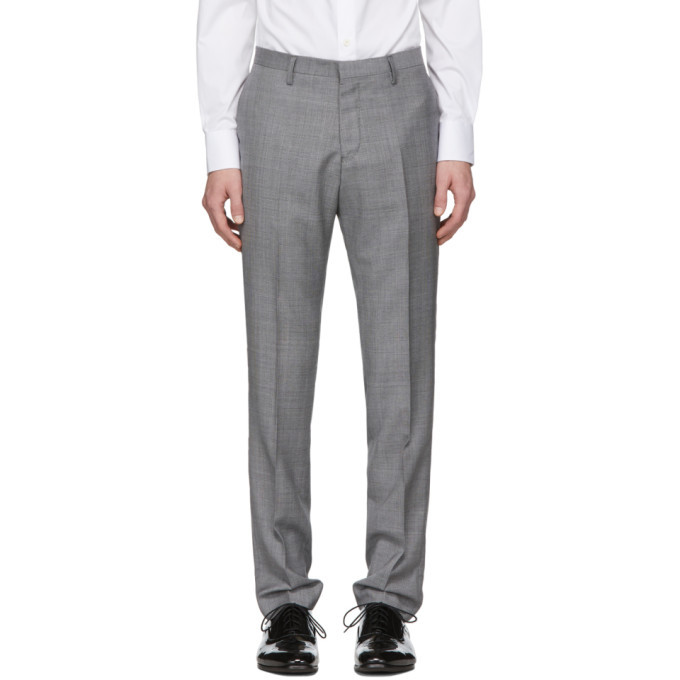 Photo: Tiger of Sweden Grey Wool Todd Trousers