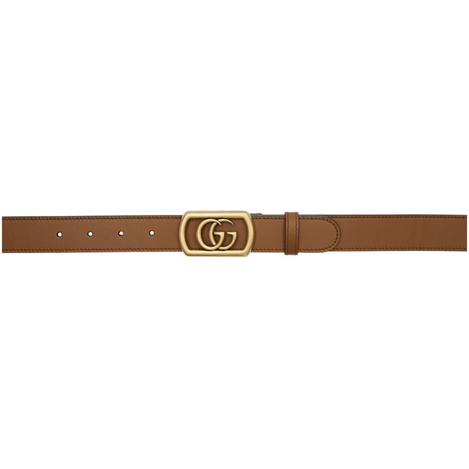 Photo: Gucci Brown Framed Double G Belt