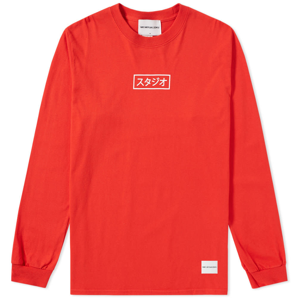 Photo: MKI Long Sleeve Studio Box Tee Red