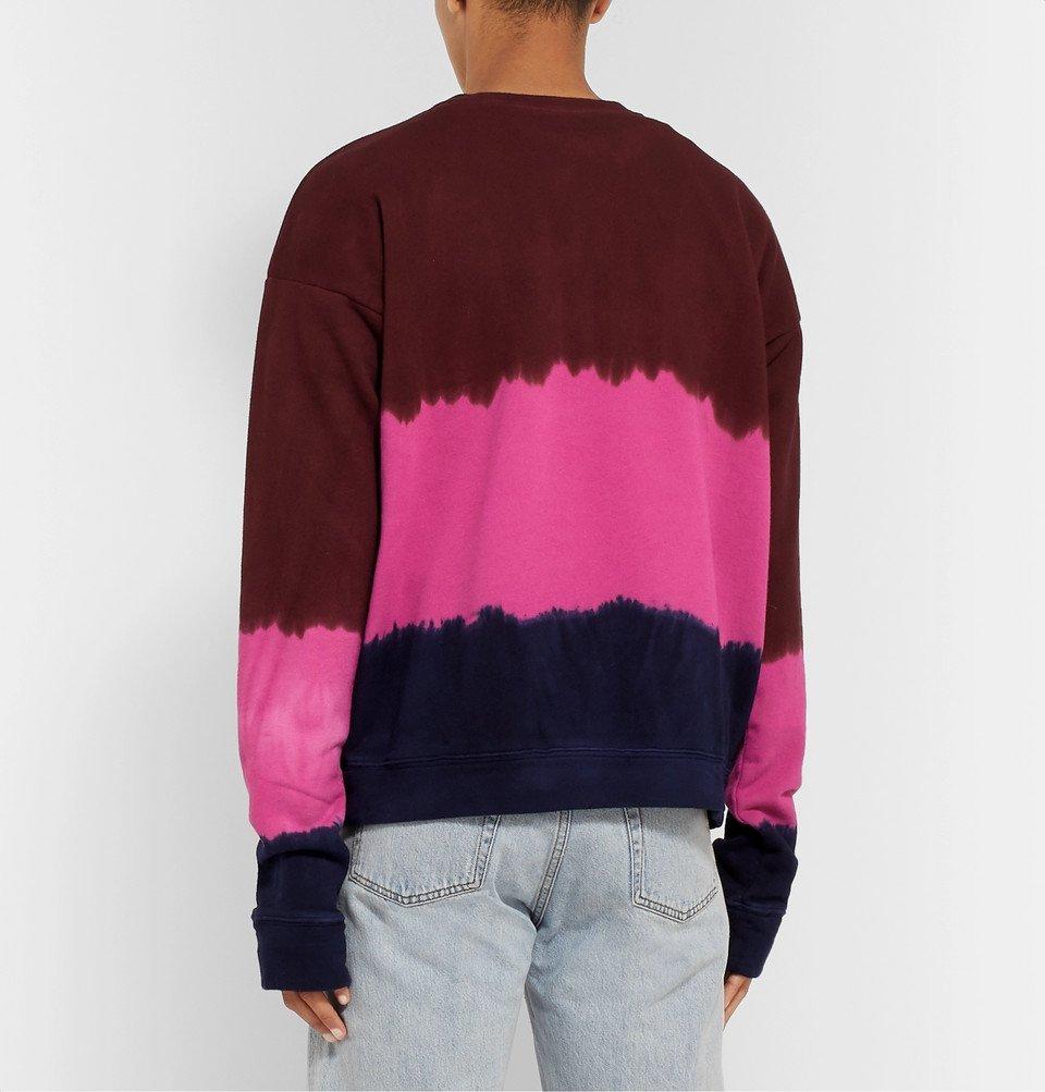 The Elder Statesman - Tie-Dyed Fleece-Back Cotton-Jersey Sweatshirt - Pink