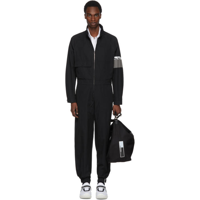 Photo: Prada Black Zip-Up Jumpsuit